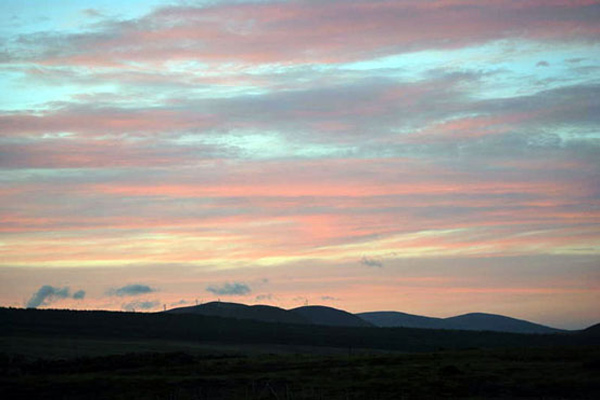 holiday cottage slideshow sunset